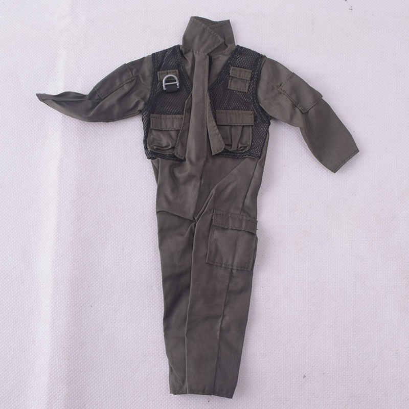 1/6 soldado acessórios f14/f15 uniformes piloto macacão roupas caber 12 Polegada phicen ação figura masculina boneca brinquedos