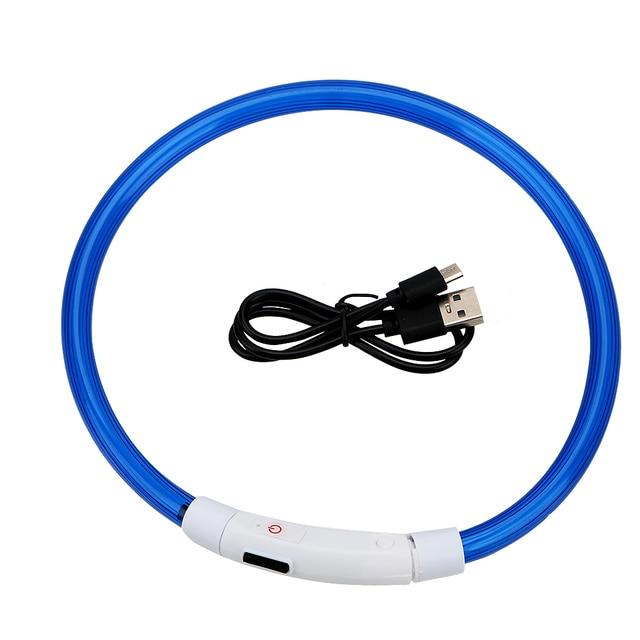 LED USB Luminous Night Safety Rechargable Dog Collar   3