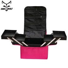 נשים איפור תיק מזוודה אופנה תיק קוסמטי מקרה קוסמטיקה קיבולת גדולה עמיד למים נסיעות איפור תיקי מזוודות