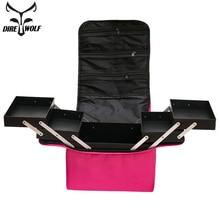 Bolsa de maquillaje para mujer, maleta a la moda, estuche para cosméticos, gran capacidad, impermeable, neceseres de viaje para maquillaje, maletas