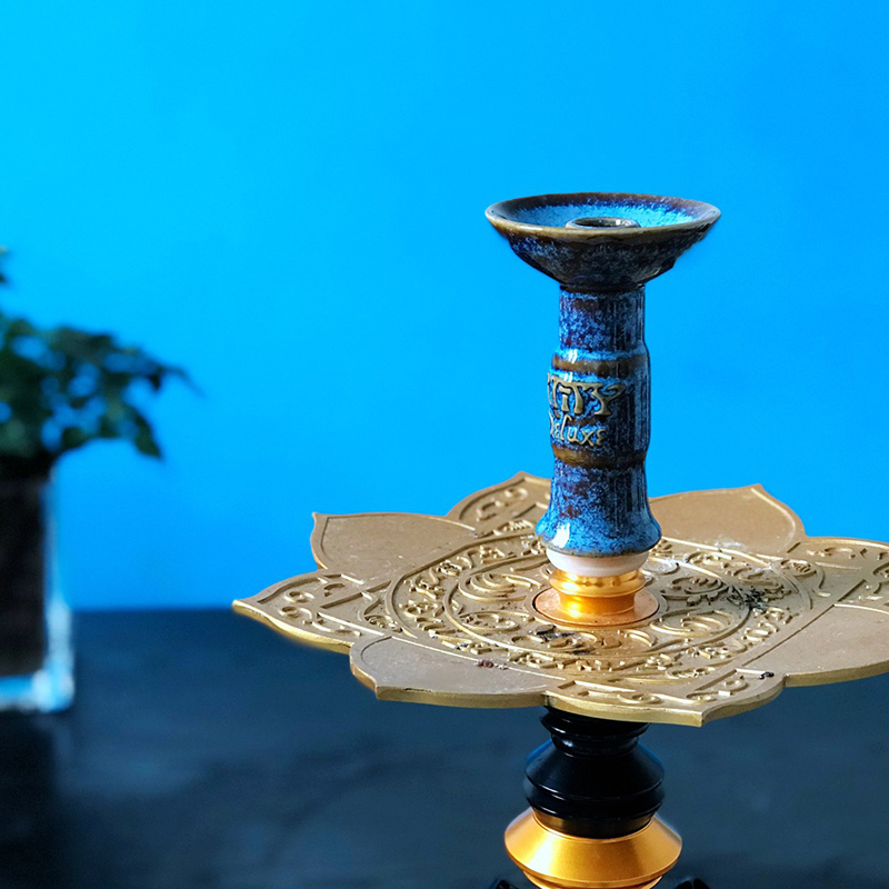 Hookah Bowl Shisha Tobacco Bowl Ceramic Water Pipe Bowl With Caloud Charcoal Holder For Hookah Chicha Narguile Accessories