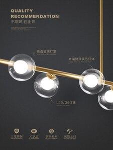Image 4 - Moderne LED Kronleuchter Glas ball Lampen Restaurant bar Hängen lichter Nordic esszimmer dekoration suspension leuchten