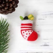 Рождественский венок ватный Войлок Материал сумка Санта Клаус Рождественская елка DIY Шерсть Войлок Набор рождественские украшения