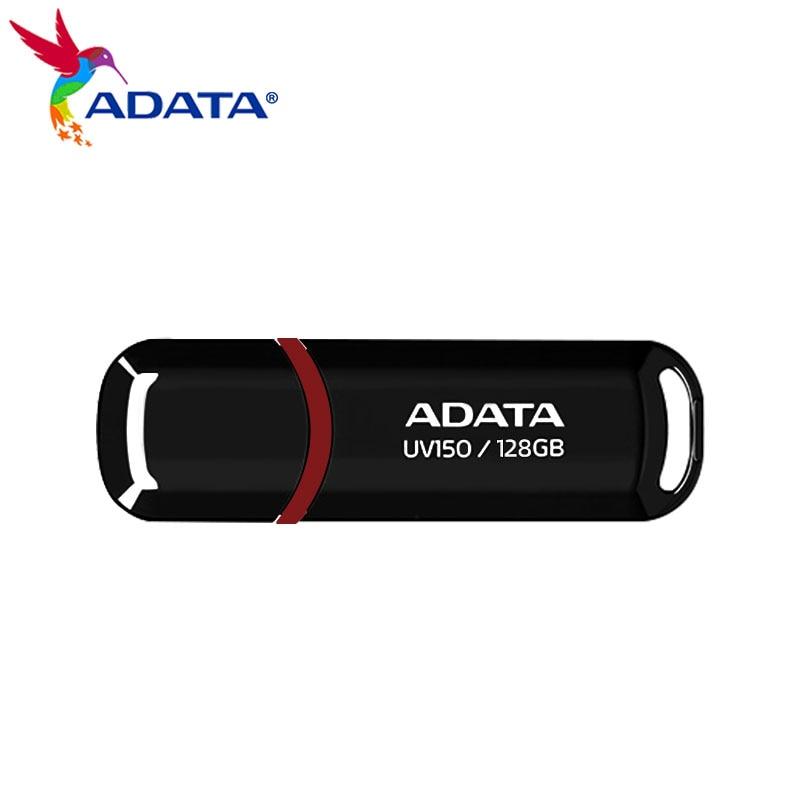 ADATA USB 3,2 Gen 1 ЧЕРНЫЙ Флеш-накопитель 16 Гб оперативной памяти, 32 Гб встроенной памяти, 64 ГБ 128 высокое Скорость портативный накопитель UV150 хранен...