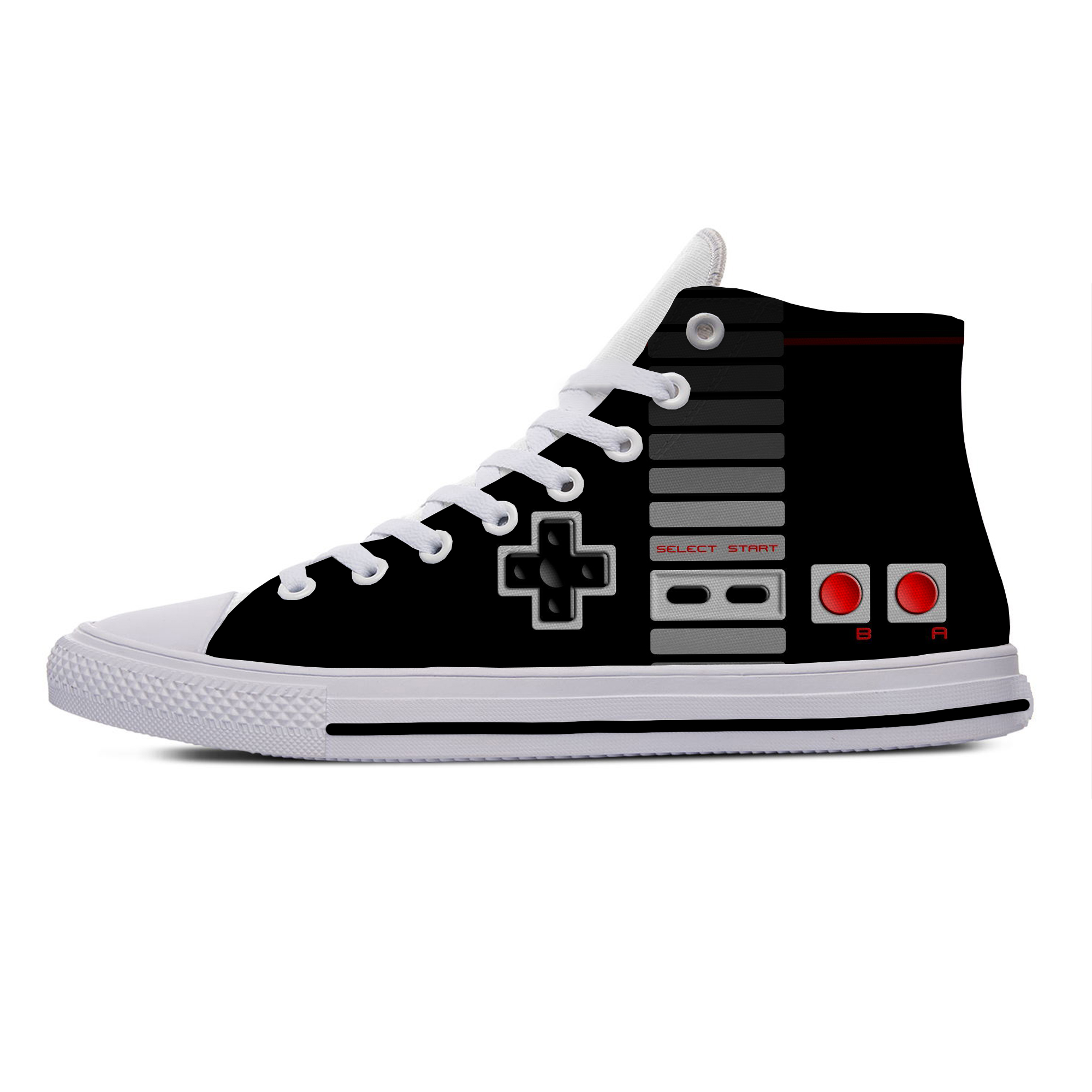 Classic Controller Video Game Console Gamer Cool Casual Canvas Shoes High Top Lightweight Breathable 3D Print Men Women Sneakers