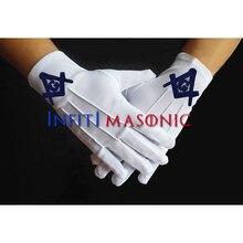 Infitimic белые перчатки Mason Free Заказные вышитые белые перчатки формальная форма охранники дворецкий высокое качество полиэстер