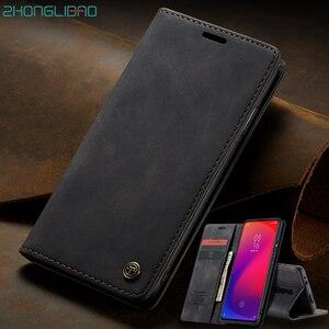 Чехол для Xiaomi Redmi note 9 9s K20 Mi 9 9T Pro, Роскошный Матовый Чехол-книжка с магнитной застежкой, кожаный чехол для телефона Xiami Xiomi K20pro