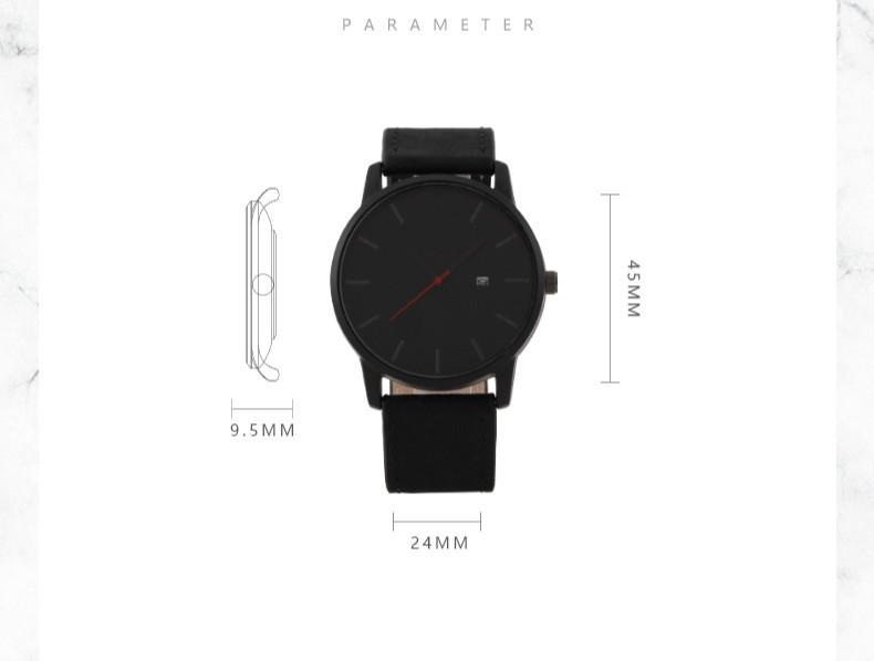 Mreurio 2020 Бизнес Мужские часы Модные Простые обувь большого
