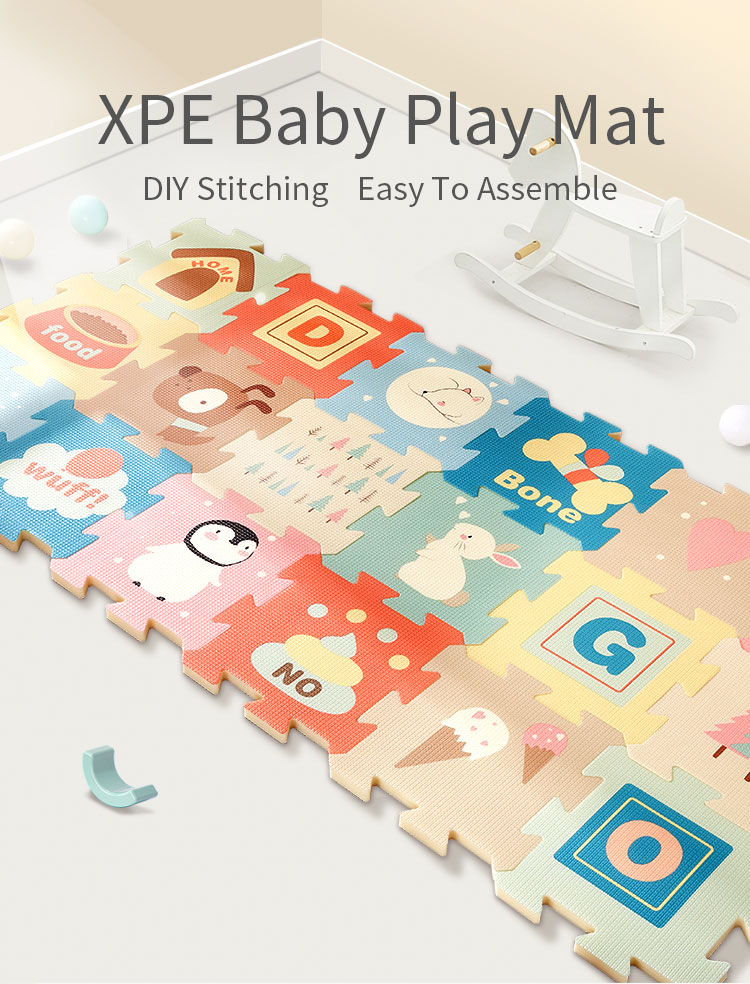 H4dbcbec472f34fc8b1042bcf1eb484df2 BabyGo 9pcs Baby Puzzle Play Mat XPE Foam Waterproof 82*82*2cm Thickened Children'S Crawling Pad Living Room Activity Floor Mat