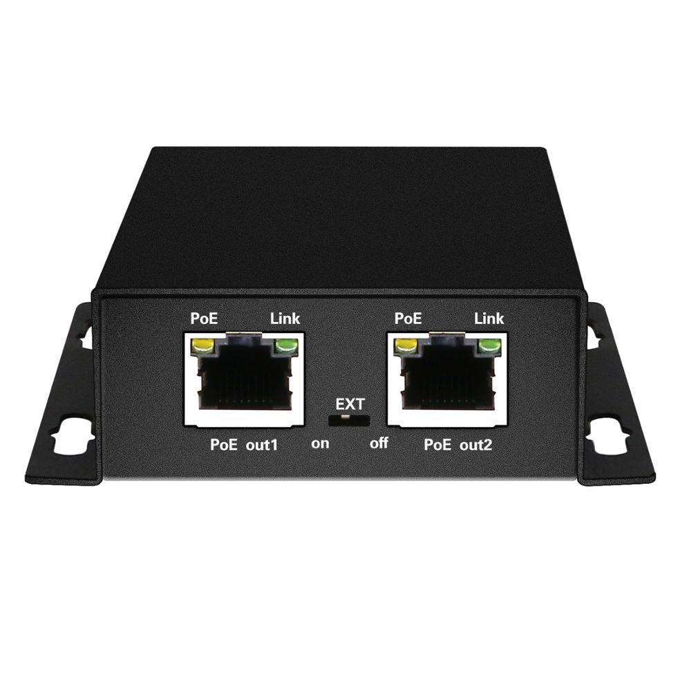 POE extender 1 input 2 output 10/100/1000M active POE 802.3af/at or passive 48V compliant 3