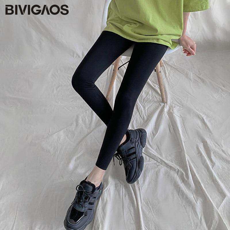 BIVIGAOS New 3-Color Sharkskin Leggings Women Spring Summer Thin Skinny Legs Fitness Leggings Pressure Elastic Sport Leggings 10