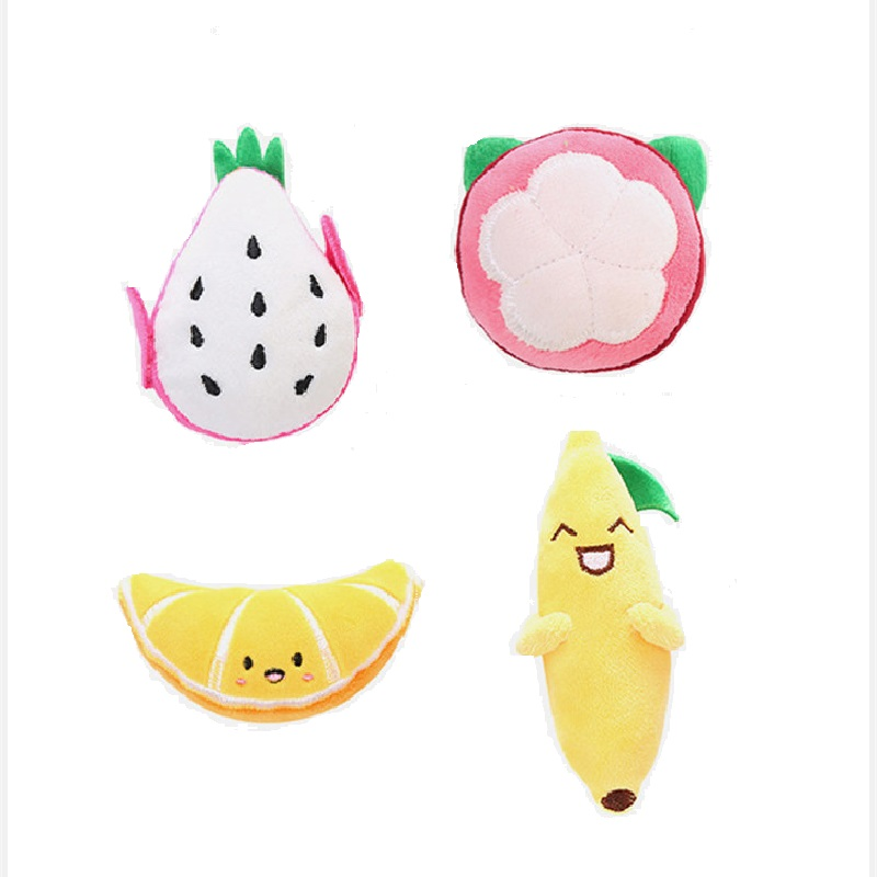 Baby Soothing Doll Cute Fruit Plush Toy Kawaii Puppet Fruit Soft Stuff Plants Pendant Toy Educational Toy Birthday Gift For kids