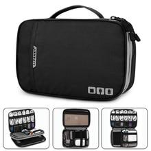 Accessoires électroniques épaissir câble organisateur sac Portable étui pour disques durs, câbles, Charge, Kindle, iPad mini noir