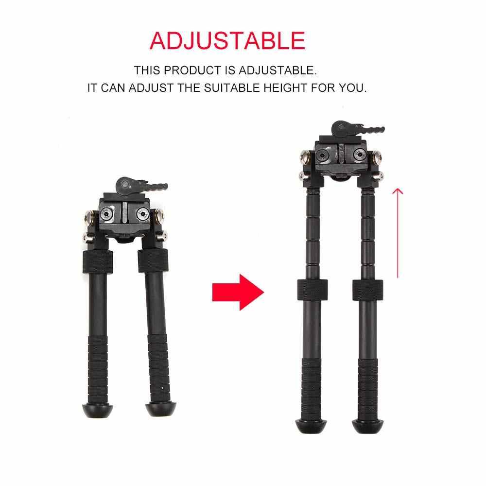 Tactische Ondersteuning Bipod 6 ~ 9 Inch Aluminium Statief Gezamenlijke Camera Converter 20Mm Weaver 360 Graden Verstelbare Accessoires