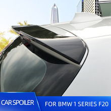 Rear Roof Car Spoiler Wings For BMW 1 Series F20 116 118 120 125 135 Hatchback Racing Sport ABS Plastic Car Trunk Spoiler Wings black universal double deck spoiler rear auto car racing spoiler wings