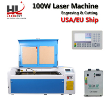 No Tax Ship from Europe 100W CO2 Laser Engraver Cutter Machine with RUIDA 6445 Autofocus 1000x600mm