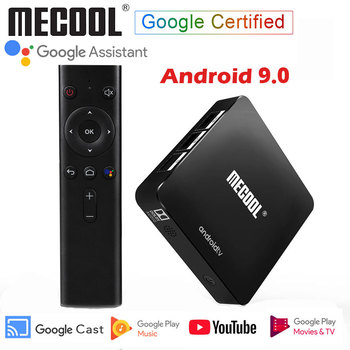 Mecool Android 9.0 Google Certified TV Box MECOOL KM8 ATV 2GB 16GB Android 9 Smart TV box BT4.0 4K 2.4G WiFi Media Player