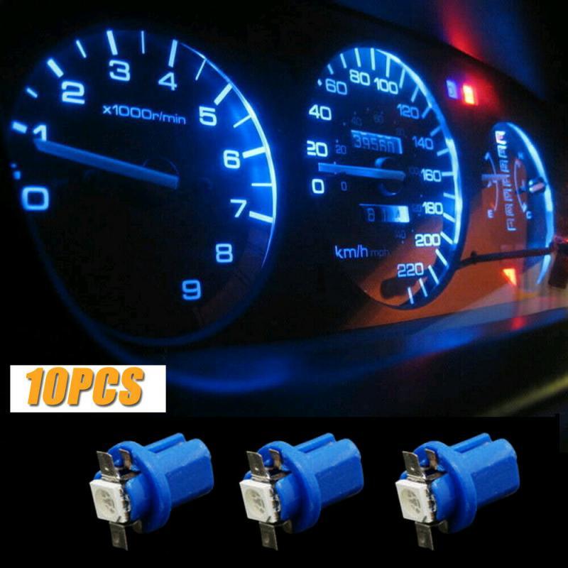 10 Uds LED T5 B8.5D bombillas SMD 5050 T5 B8.5D 5050 1SMD coche LED tablero medidor bombilla de luz instrumental luces de cambio de luz