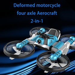 2 in 1 RC Deformation Folding Motorcycle 2.4G WIFI Remote Control Motor Bike RC Folding Toy WiFi Camera Drone With Headless Mode