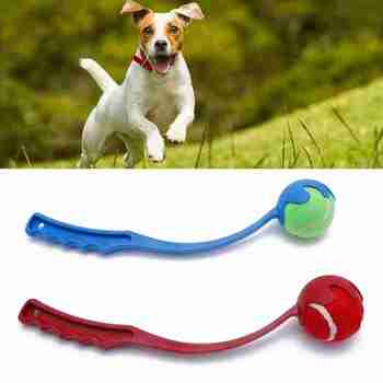 1pcs Sport Launcher Dog Toy Ball Thrower Pet Training Interactive Fetch Throwing Supplies