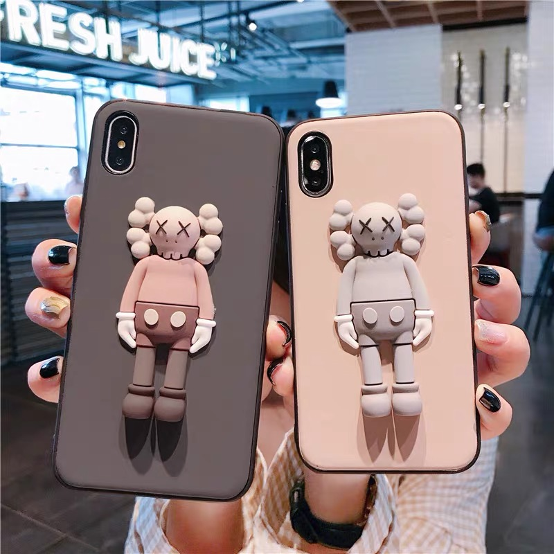 For <font><b>iphone</b></font> 11 Pro Max 11Pro Luxury Brand <font><b>3D</b></font> <font><b>Silicone</b></font> Doll Toy Soft Phone <font><b>Case</b></font> for <font><b>iphone</b></font> 6 6S 7 8 plus <font><b>X</b></font> XS MAX XR Cover image