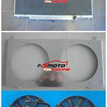 3 ряда алюминиевый радиатор+ кожух+ кулер вентилятор для fit Nissan Patrol GU Y61 бензин 4.5L 4,5 руководство MT