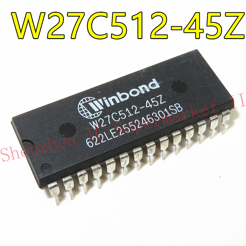 1pcs/lot W27C512-45 W27C512-45Z 27C512 DIP-28 In Stock