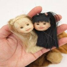 3 unids/lote Retro ojos de cristal chica muñeca cabeza maquillaje DIY para muñecas cabeza niños regalo de cumpleaños