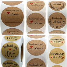 Etiqueta feita à mão com adesivo do amor para a casa, feito à mão, para escrever, para garrafa, recipiente, varejo
