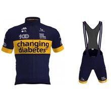 2021 pro team değiştirme diyabet bisiklet jersey takım elbise yaz erkek bisiklet önlüğü şort roupa de ciclismo bisiklet spor yarış giyim