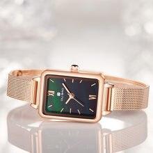 Модные женские часы с сетчатым ремешком браслет для женщин;