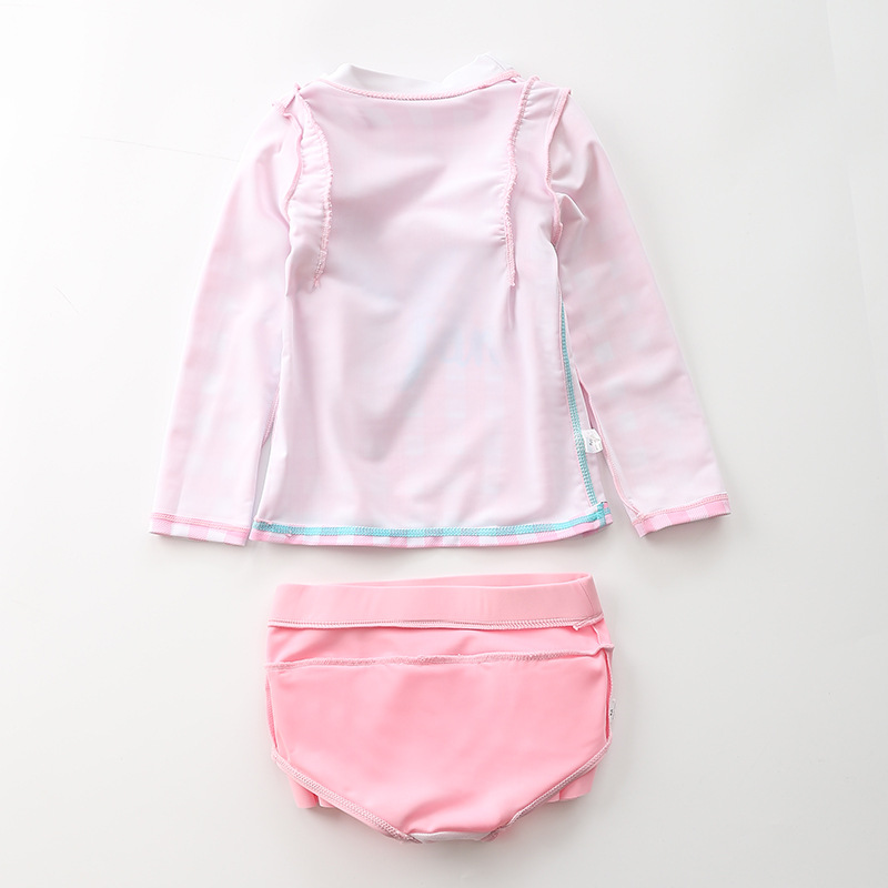 KID'S Swimwear Girls Split Type Flash Long Sleeve Swimwear Children Infant Baby Princess South Korea Skirt Tour Bathing Suit
