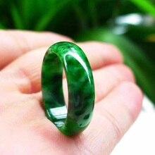 Нефритовое кольцо, натуральный бирманский жадеит, ювелирное изделие, хорошее ювелирное изделие, сухоцветное зеленое кольцо на палец, изумруд, мужское и женское кольцо