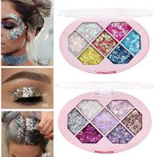 7 cores à prova dwaterproof água olho maquiagem sequin maquiagem decoração diamante flash à prova dwaterproof água lantejoulas pentagrama shard lua estágio maquiagem
