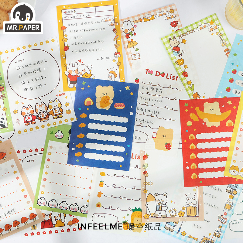 Mr.Paper 30pcs/lot Adorable Animal Check To Do Diary List Memo Pad Stationery Scrapbooking Material Creative Loose Leaf Memo Pad