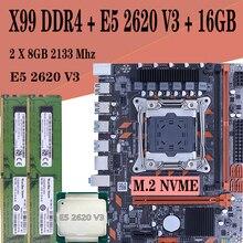 X99 האם סט LGA 2011 3 עבור אינטל E5 2620 V3 מעבד 16GB ECC שרת RAM זיכרון 2 ערוצים m.2 Nvme LGA 2011 V3 Mainboard