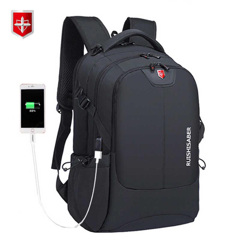 Zwitserse Waterdichte Nylon Rugzak Unisex Mannen Laptop Telefoon Oplader Rugzak Casual School Tassen Reizen Mochila Voor 15 Tot 17 inch
