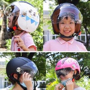 Image 3 - Kids Motorhelm Enfant Scooter Helmen Chopper Leuke Cascos Kinderen Fiets Casco Moto Gepersonaliseerde Capacete Voor Jongens Meisjes