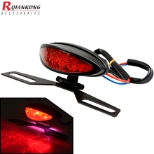 Universal Motorcycle Tail Rear Light Red LED Lamp Brake Stop Light Moto Turn Signal For Kawasaki ZX 6R 9R ZR7S ZX900 ZZR600 Z900
