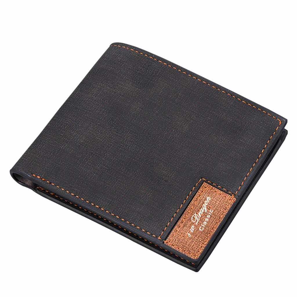 Hengsheng nouveau 2020 sac de monnaie portefeuille en cuir synthétique polyuréthane homme sac à main pochette hommes portefeuille porte-monnaie mâle porte-carte court hommes portefeuille