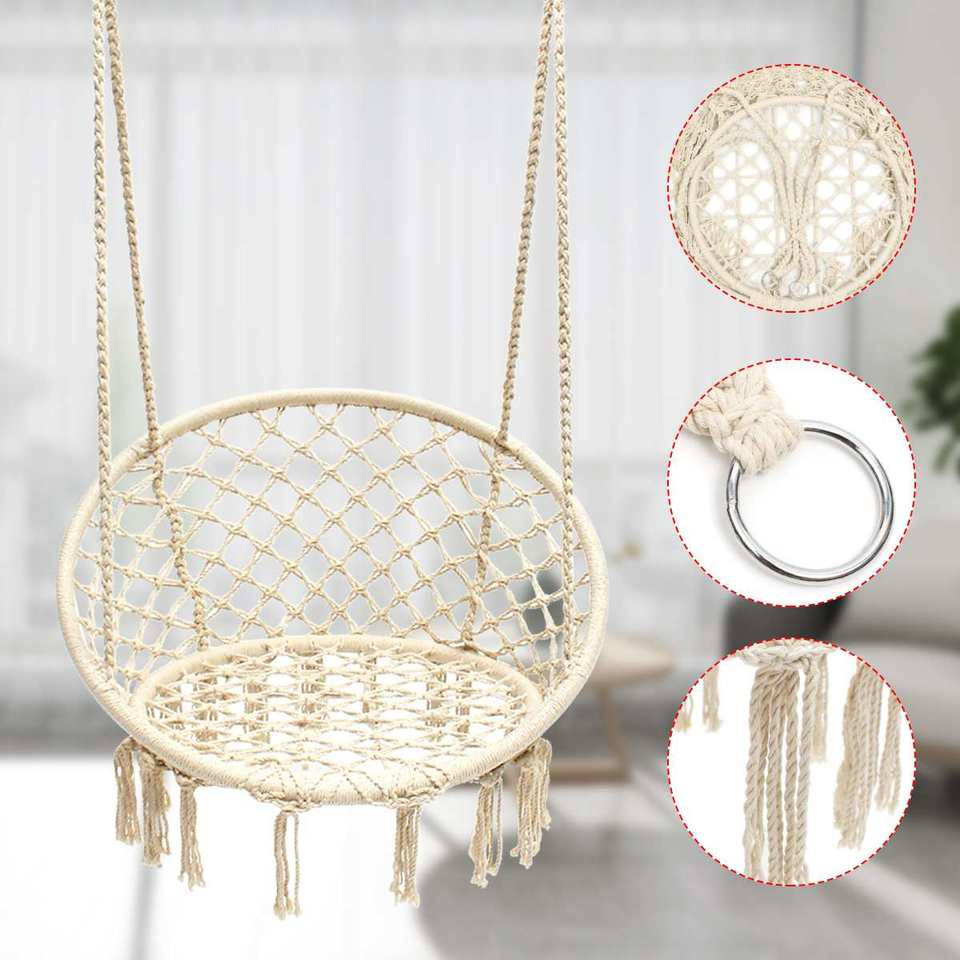 Mega Deal G4b Outdoor Indoor Handmade Knitted Round Hanging