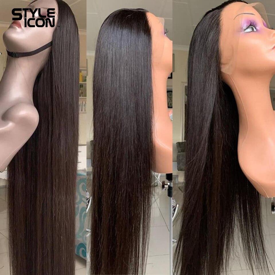 Perruque frontale brésilienne 13*4 Lace Front cheveux humains 8-30 pouces oreille droite à oreille dentelle perruques frontales Styleicon perruque frontale droite Lace