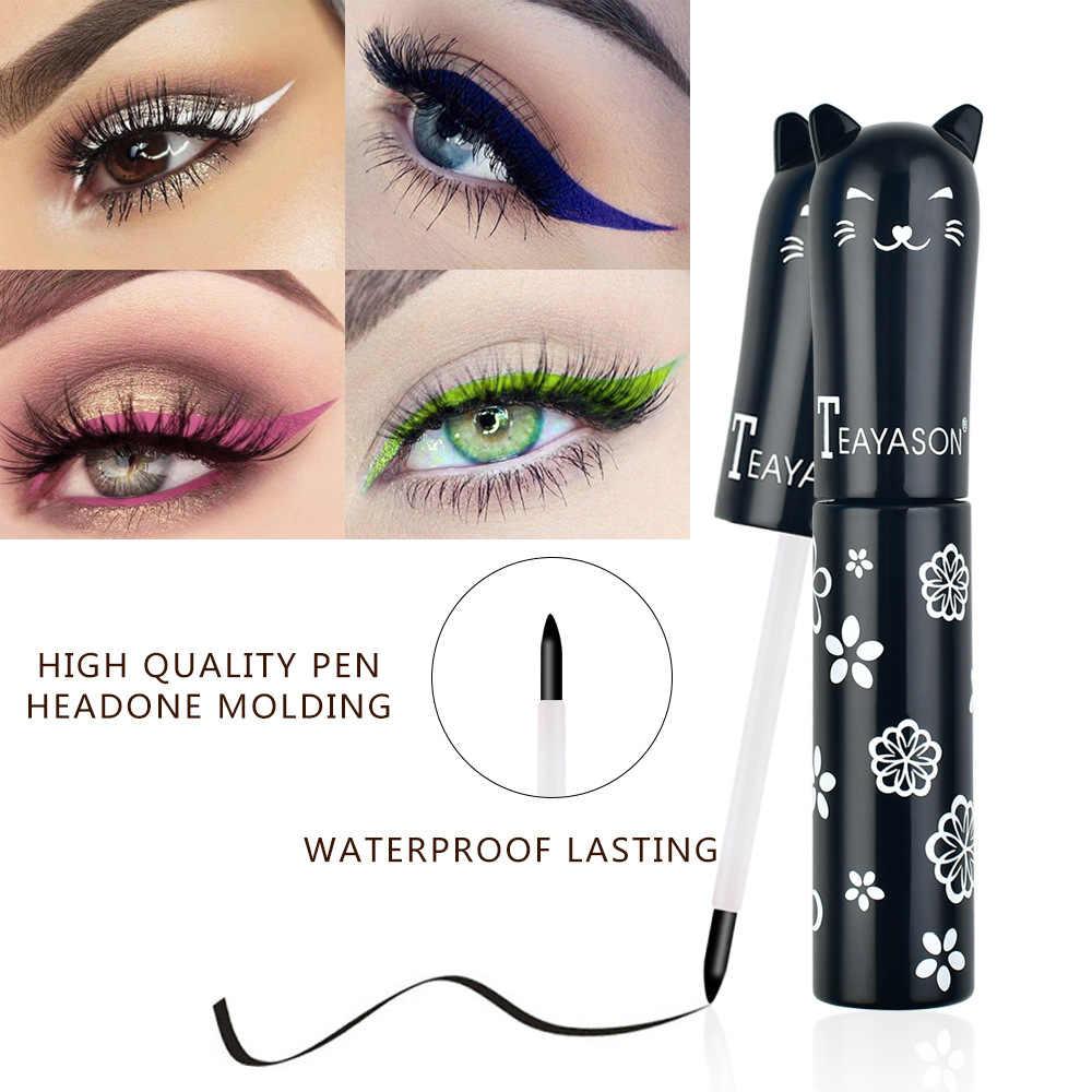 Profissional Brilhante Eye Liner Pen Cosméticos para As Mulheres de Prata Cor de Rosa de Ouro Líquido Delineador Glitter Maquiagem Ferramentas de Beleza