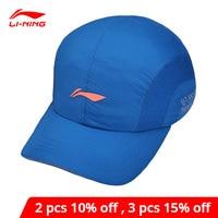 Li-Ning Unisex Running Serie Baseball Caps 97% Polyester 3% Spandex Voering Li Ning Sport Hoed AMYM068 PMQ055