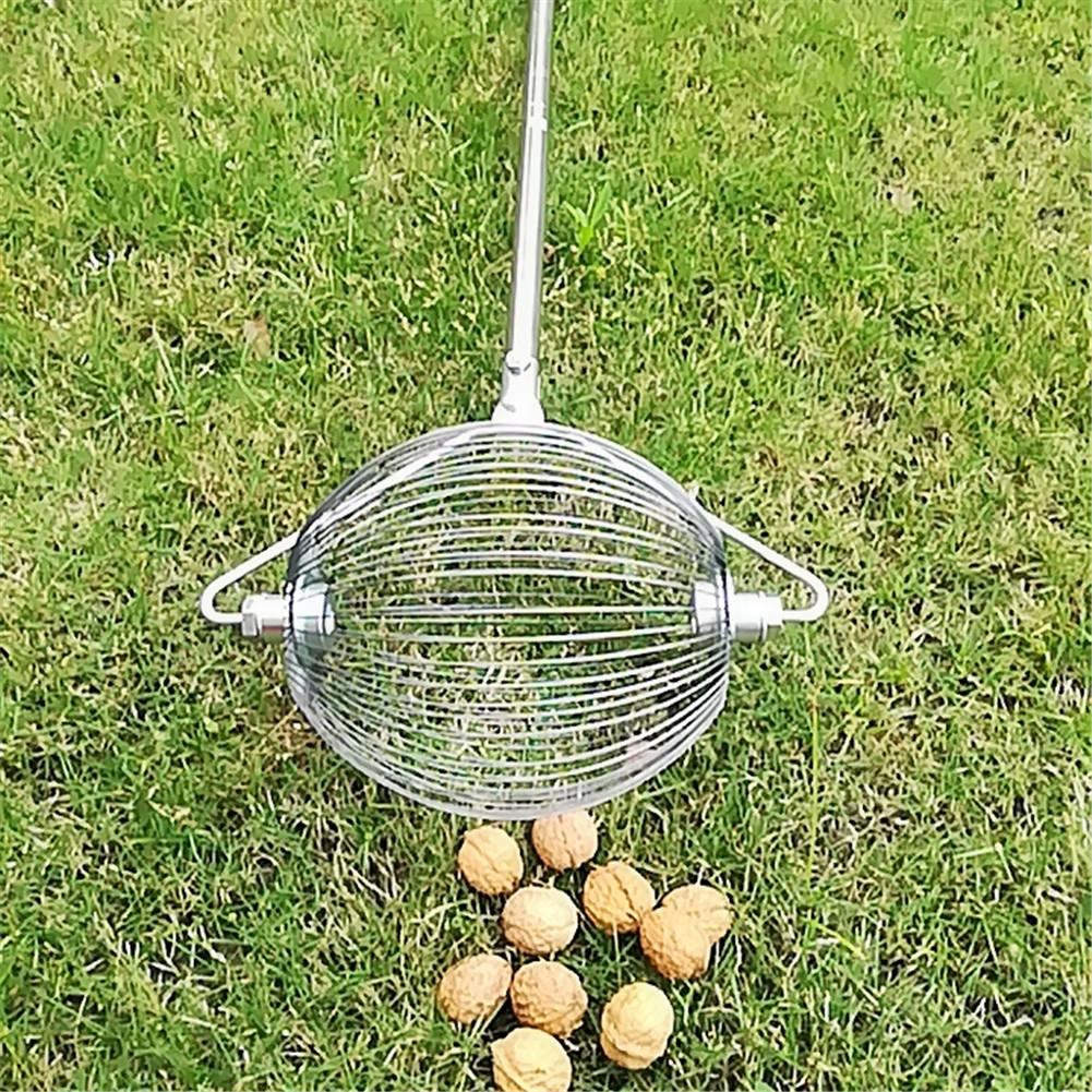 Walnuts Chestnuts Harvester Roller Nut Ball Collector Retractable Aluminum Alloy Ball Garden Fruit Picker Family Orchards Tools