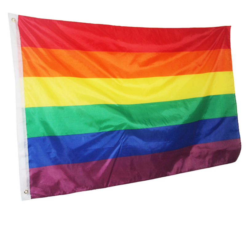 50PCS Rainbow Flag Gay Pride Peace Flags LESBIAN PRIDE PEACE Pennants Gay Flags For Gay Right Parade 90*150cm Free Shipping-in Flags, Banners & Accessories from Home & Garden    1