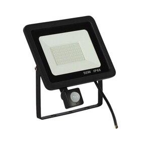 Новый 50 Вт Светодиодный прожектор 220 В датчик движения наружный прожектор безопасности водонепроницаемый