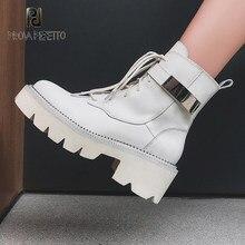 2020 inverno all-match couro martin botas de moda feminina plataforma inferior fivela de cinto de metal fino feminino cavaleiro botas curtas tendência