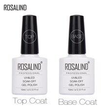 ROSALIND 10ML Top Coat Base de Gel Unha Polonês Para A Extensão Do Prego LED UV Verniz Gel Nail Art Primer Para Unhas Semi Permanente T