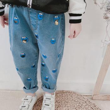 Children's Boys Summer Pants 2019 Kids Girls Sesame Street Jeans Trousers Leggins Girls Kids Toddler Harem Pants for Enfant 1